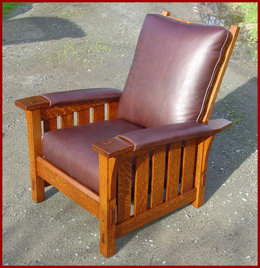 Mission chair leather - Image Of The Same Design But In The Medium Size See Model 314