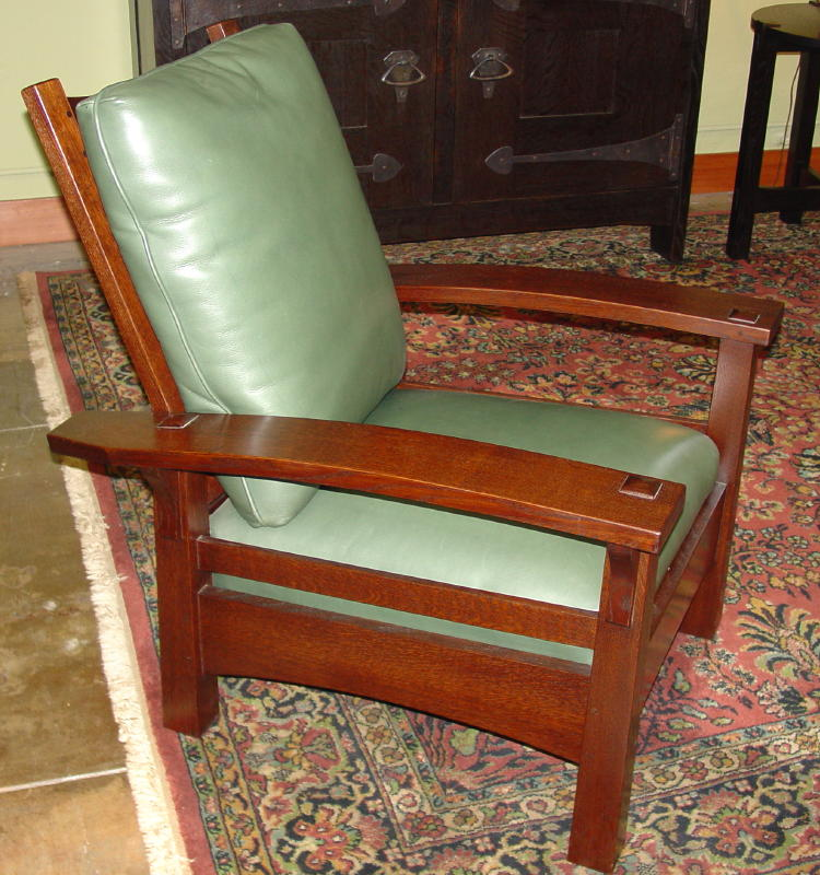Side view. & Voorhees Craftsman Mission Oak Furniture - Gustav Stickley Replica ... islam-shia.org