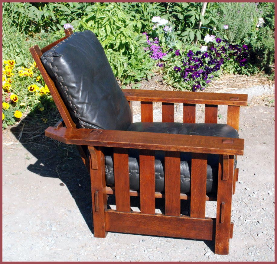 Shown fully reclined.  sc 1 st  Voorhees Craftsman & Voorhees Craftsman Mission Oak Furniture - Vintage J.M. Young ... islam-shia.org