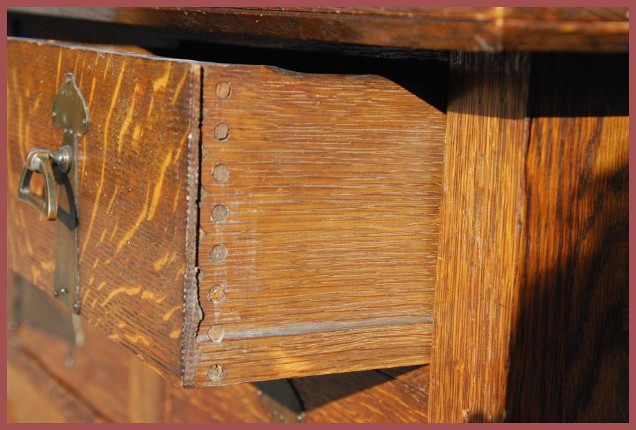 Voorhees craftsman mission oak furniture antique arts for Arts and crafts hardware