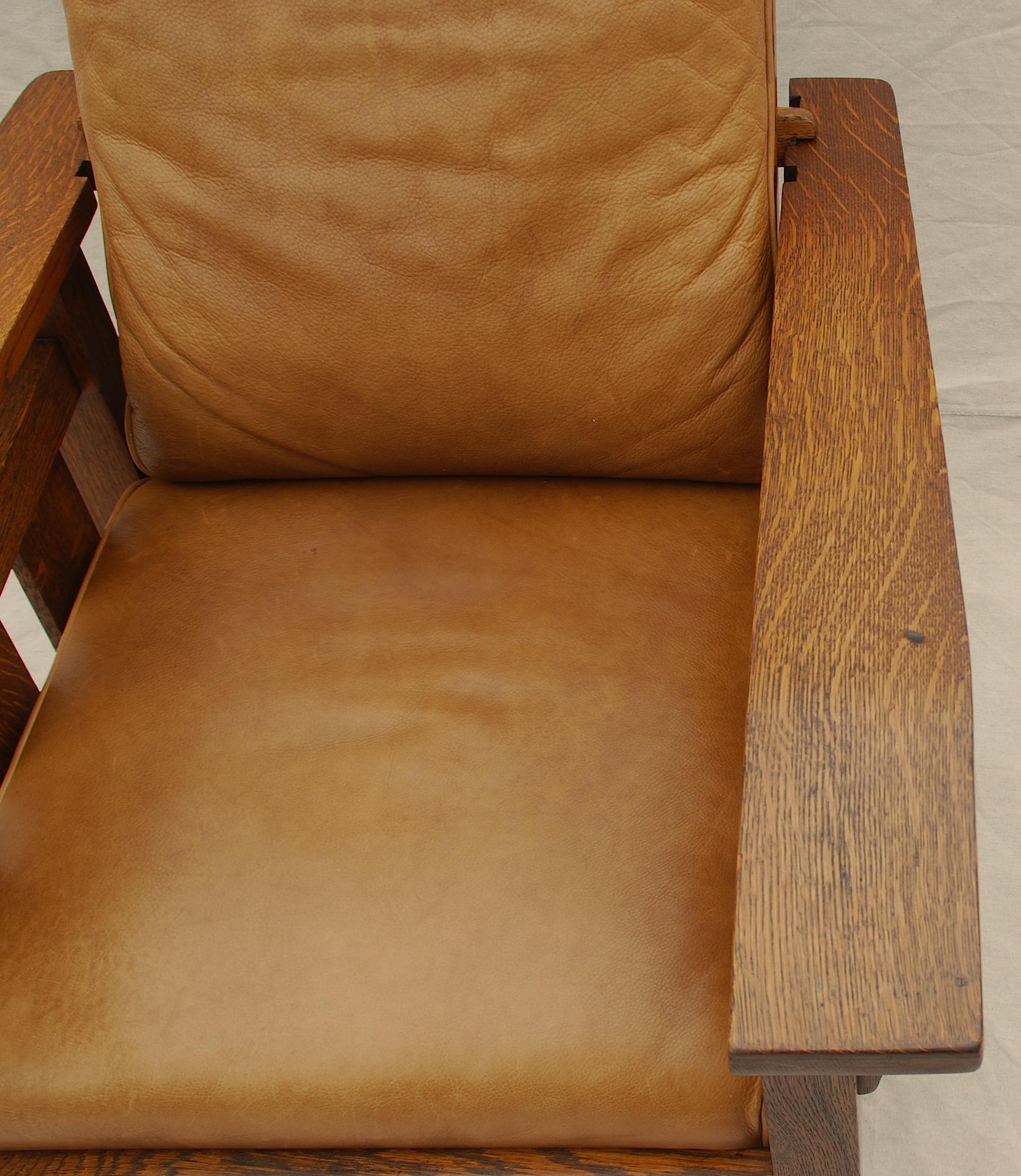 Morris chair cushions - Small Burn On Arm