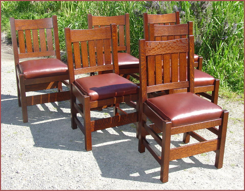 While We Make An Accurate Replica Of The Gustav Stickley V Back Dining