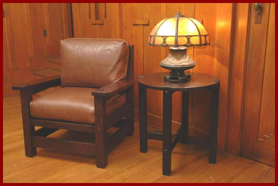 Voorhees craftsman mission oak furniture gustav stickley early shown in grouping with our accurate replica of a gustav stickley eastwood chair and a vintage mozeypictures Choice Image
