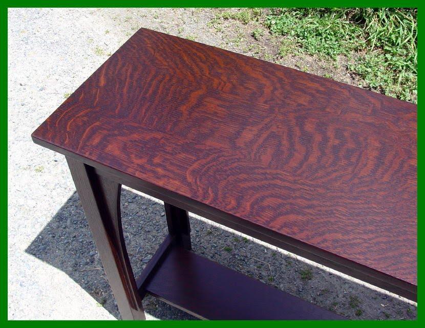 Quarter Sawn White Oak Table Top Designs