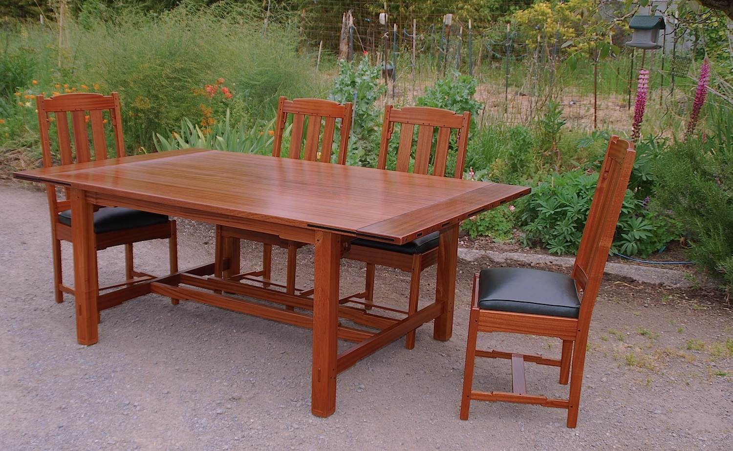 Voorhees craftsman mission oak furniture greene greene style view of table base dzzzfo