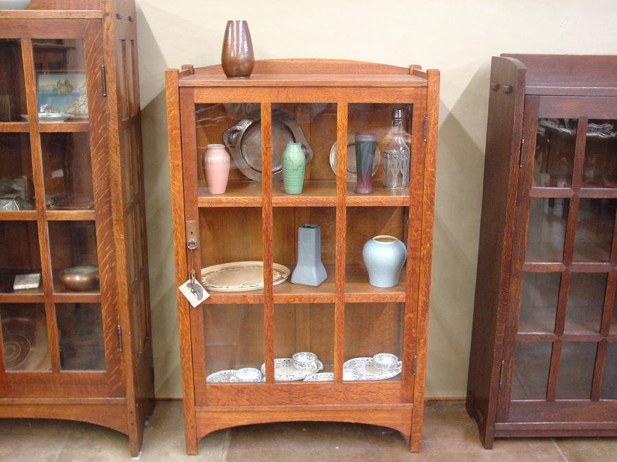 Beau Shown Between A Gustav Stickley Arched China Cabinet To The Left And An  Early Mitered