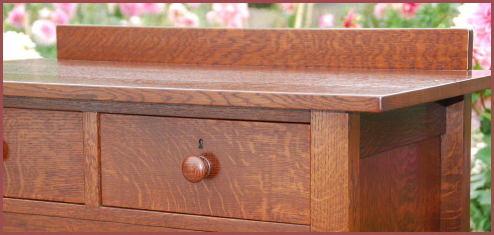 Detail Of The Authentic Turned Wooden Handle And Excellent Hand Selected Quarter Sawn