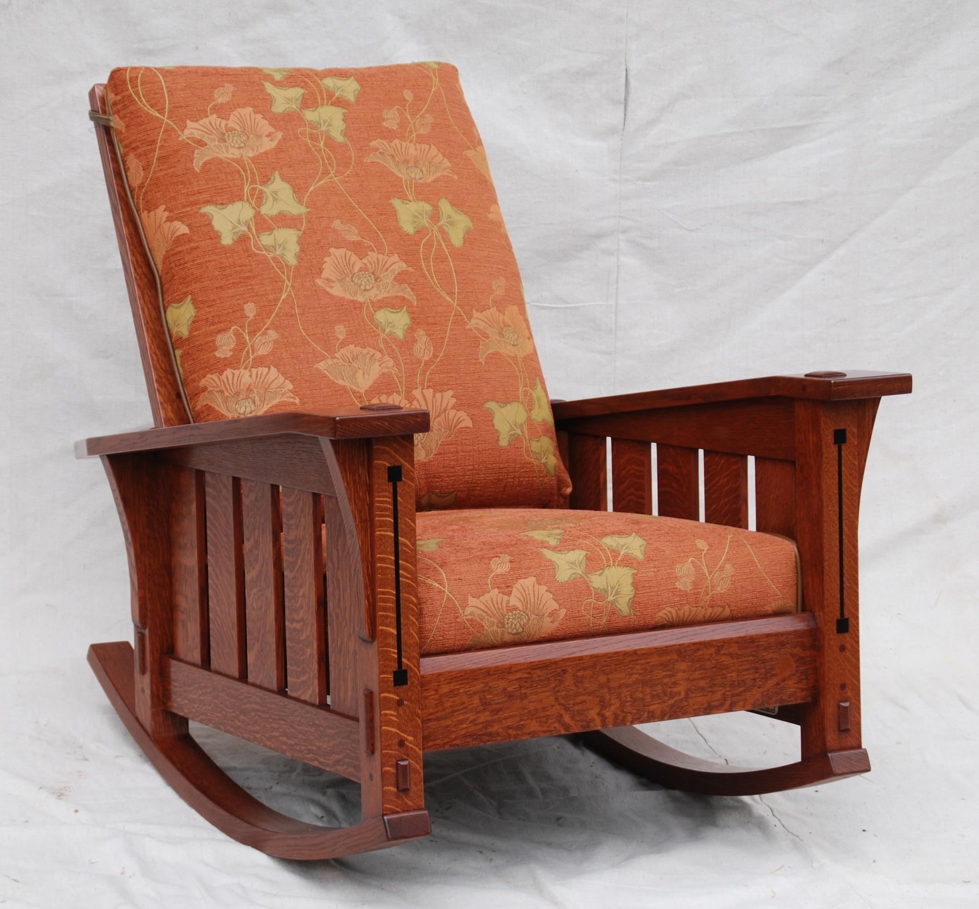 Voorhees craftsman mission oak furniture slant arm for Mission furniture