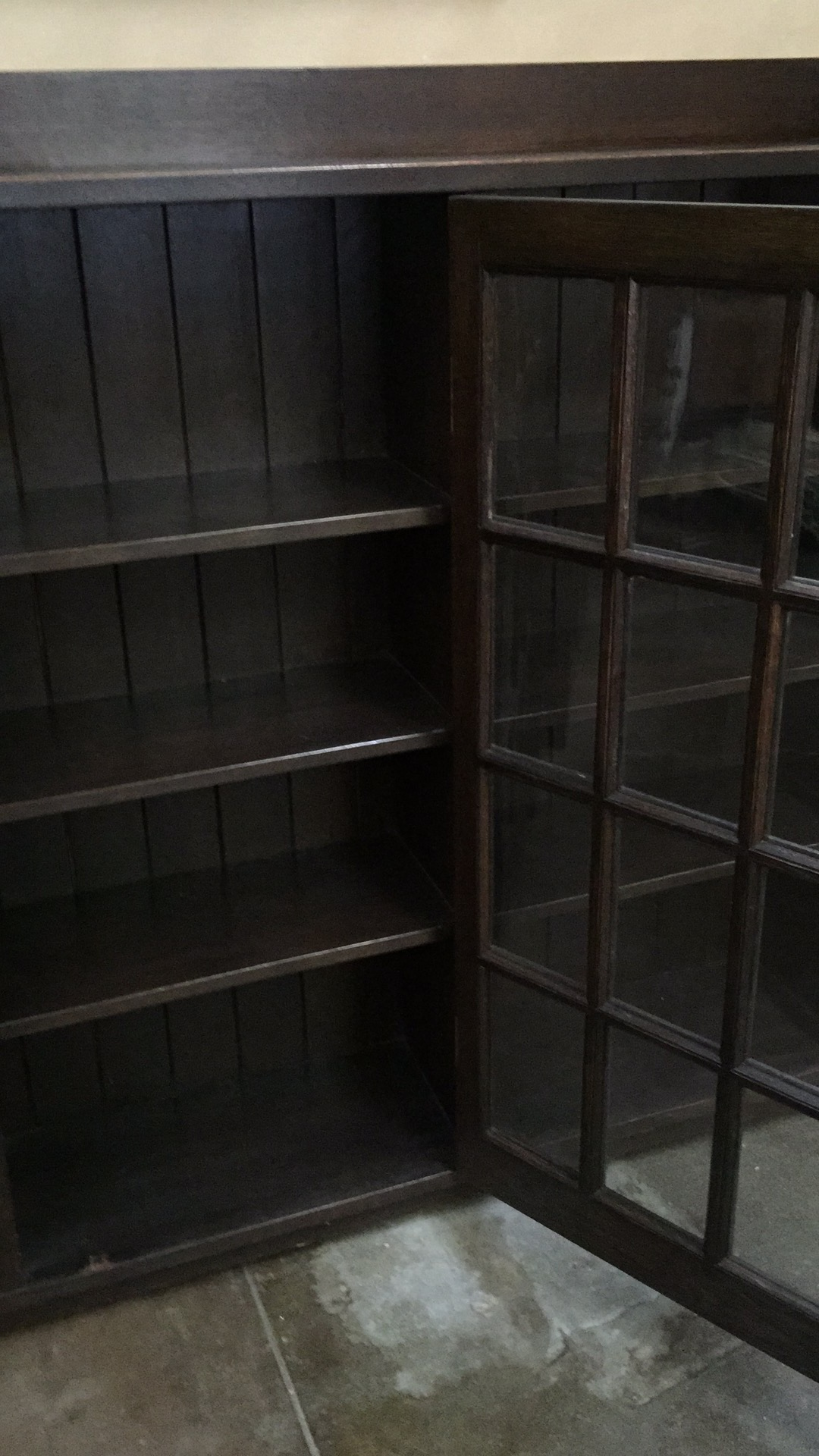 stickley furniture triple bookcase with glass doors