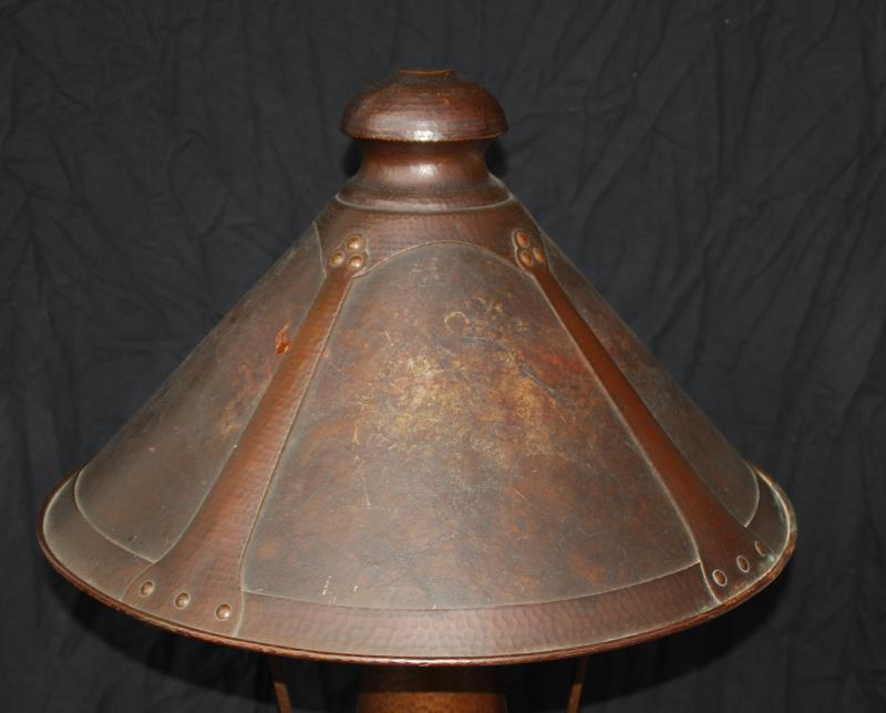 Voorhees craftsman mission oak furniture large benedict studios voorhees craftsman mission oak furniture large benedict studios hammered copper and mica table lamp van erp stickley era mozeypictures Images