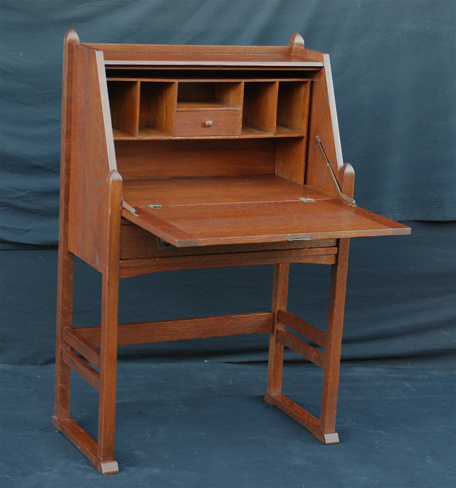 top bookcase inf desk walnut front one piece drop lgw secretary antique