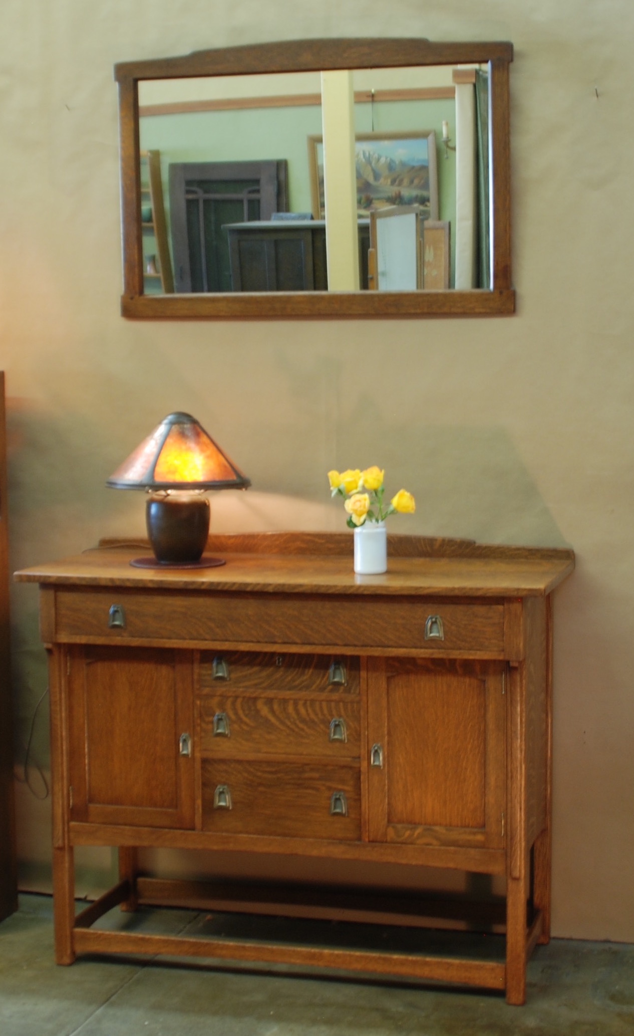 voorhees craftsman mission oak furniture - lifetime furniture