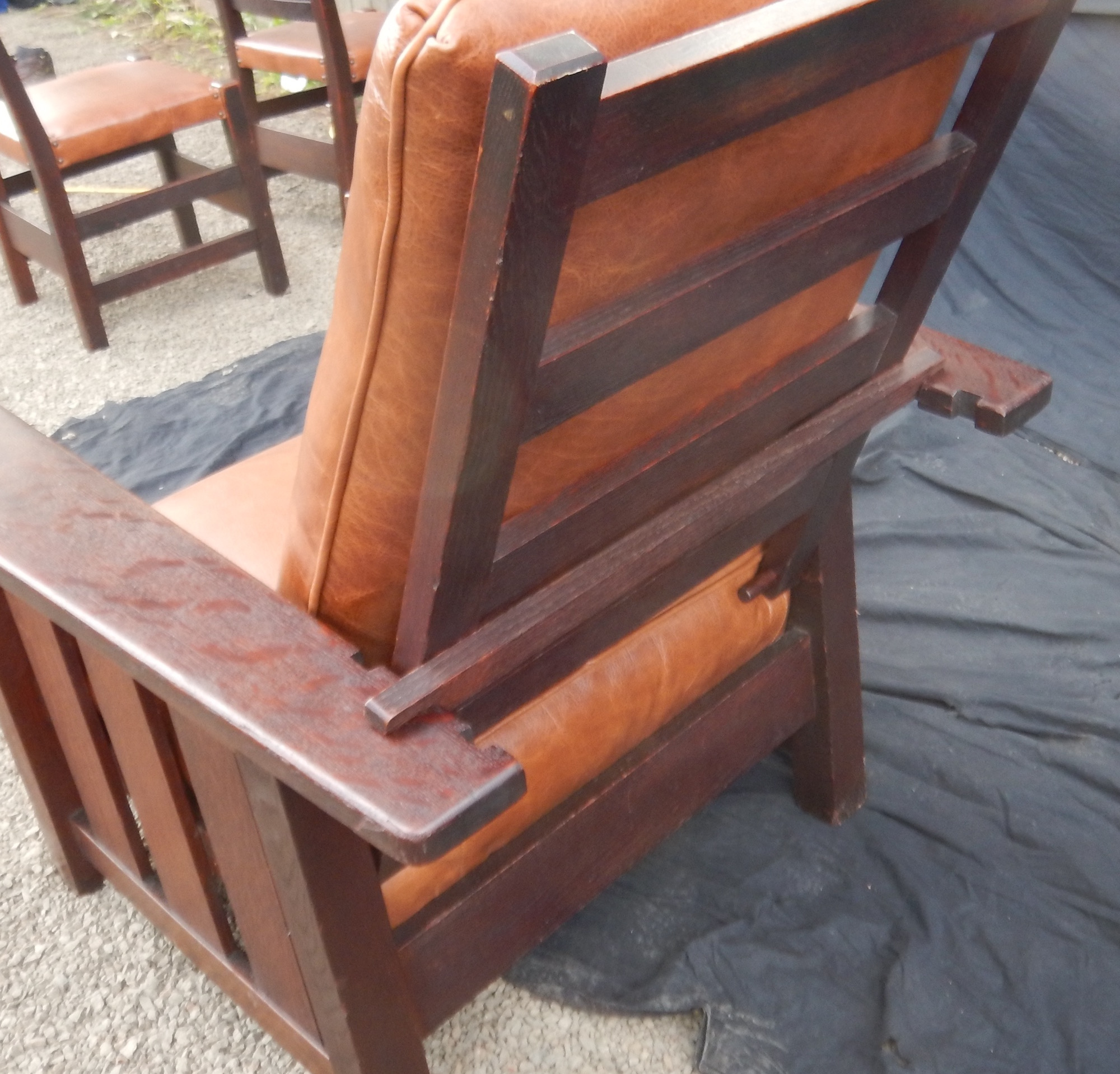 Antique stickley morris chair - Click Images For Larger Versions