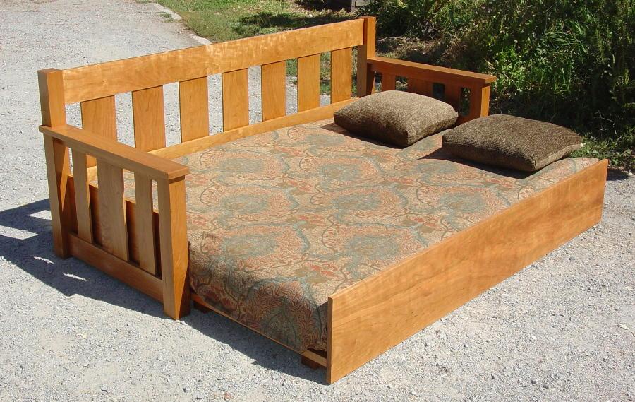 Voorhees Craftsman Mission Oak Furniture Sofa Bed In