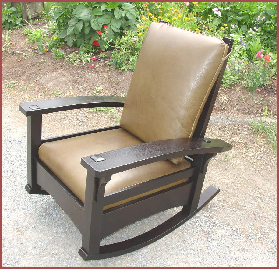 Bow Arm Adjustable Rocking Morris Chair Inspired by Gustav Stickleyu0027s early Bow Arm Morris Chair & Voorhees Craftsman Mission Oak Furniture - Morris Chairs