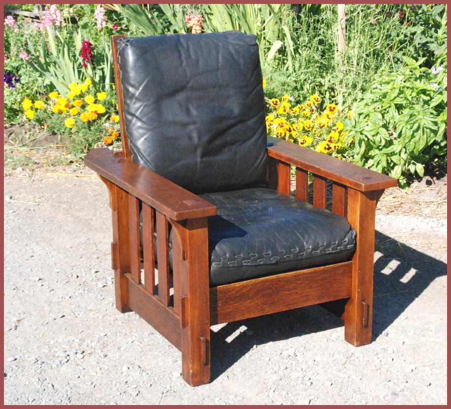 Vintage J.M. Young Reclining Morris Chair & Voorhees Craftsman Mission Oak Furniture - Vintage J.M. Young ... islam-shia.org