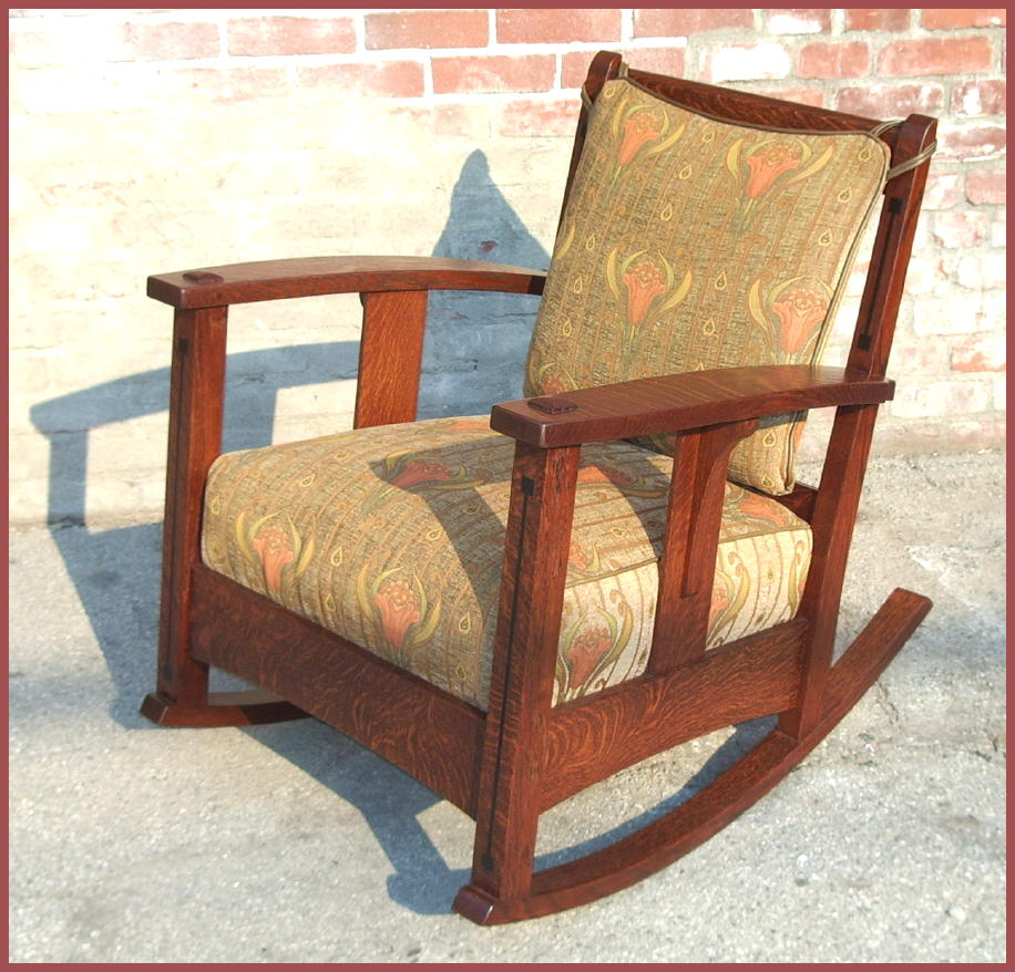 morris chairs paintings pottery rockers settles stained glass windows ...