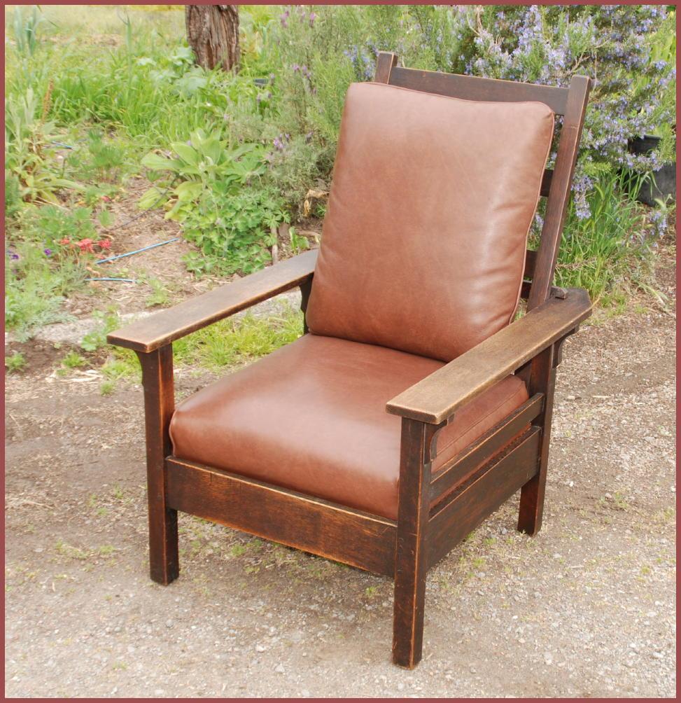 Antique stickley morris chair - L J G Stickley Onondaga Period Morris Chair