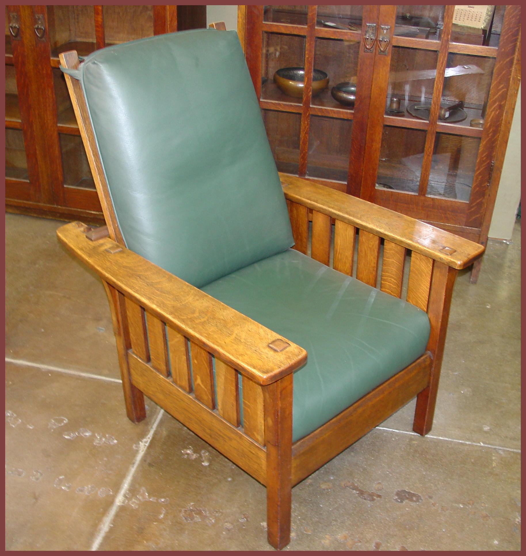 Morris chair cushions - L J G Stickley Original Morris Chair With Slats Under Each