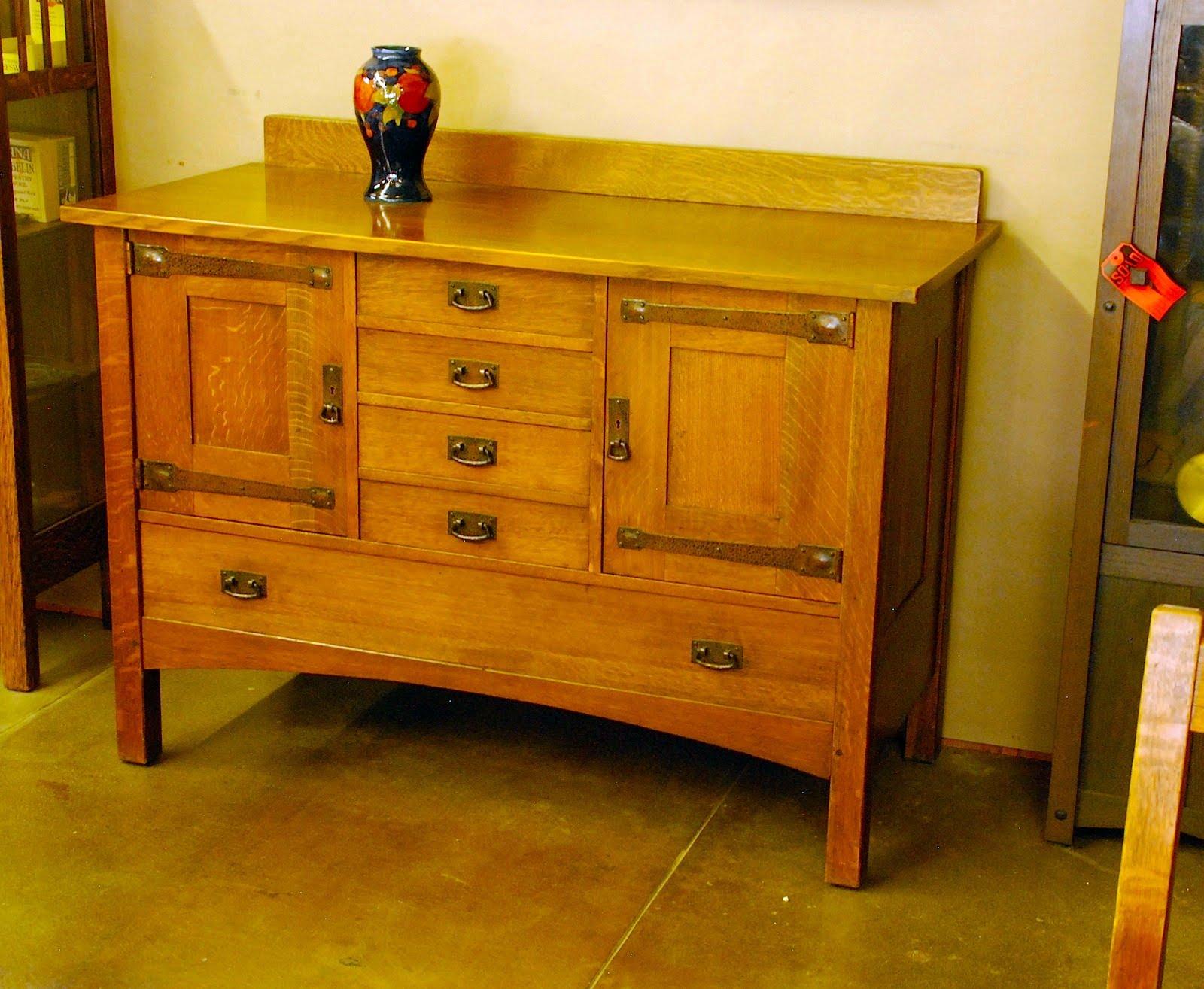 Voorhees Craftsman Mission Oak Furniture Original L J G Stickley Strap Hinge Sideboard Buffet