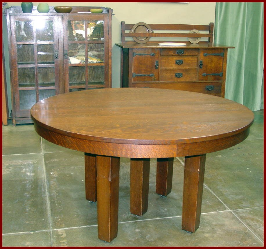 Oak Dining Table With Four Leaves