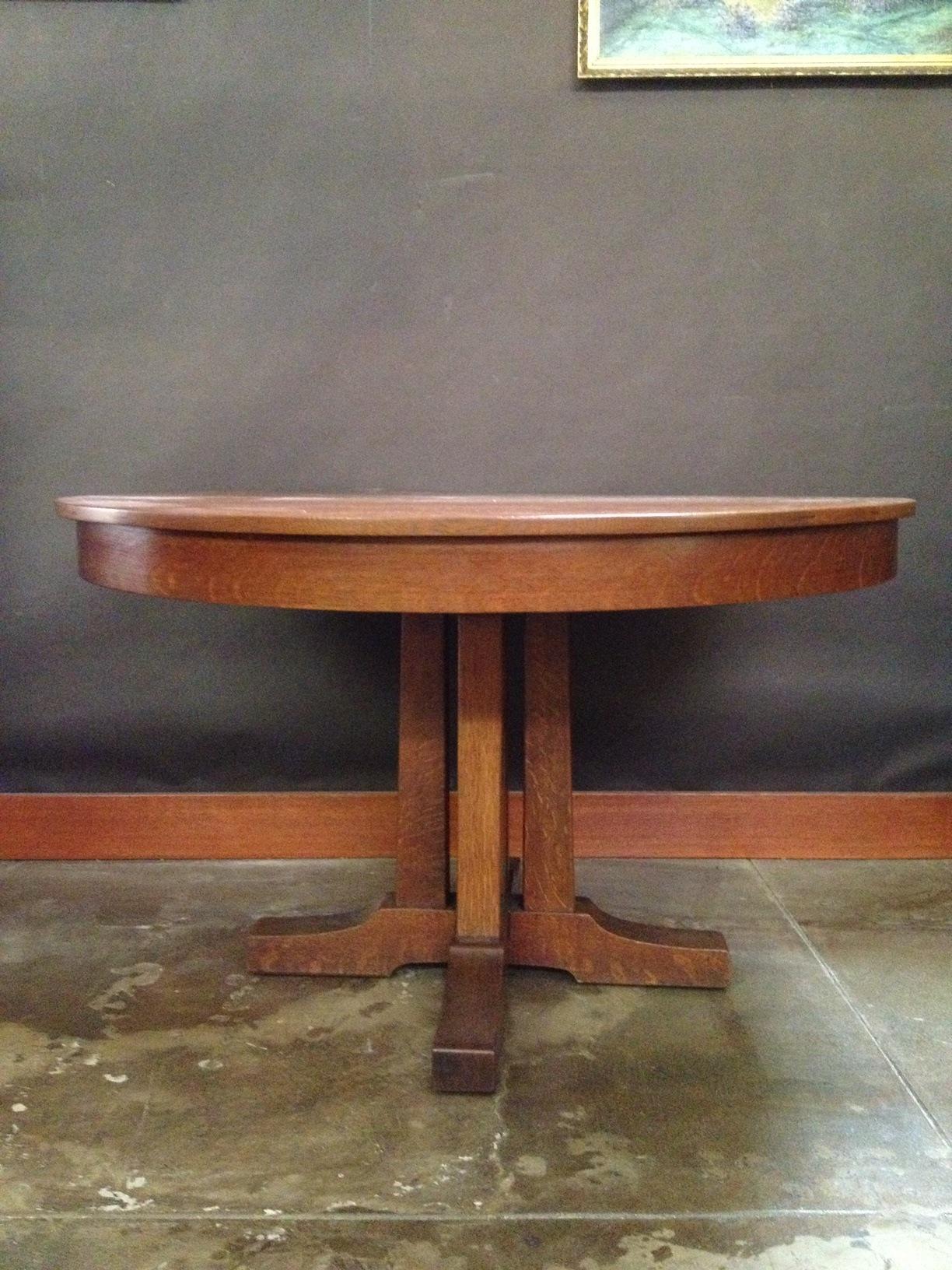 Vintage Oak Dining Table Voorhees Craftsman Mission Oak Furniture Dining Tables