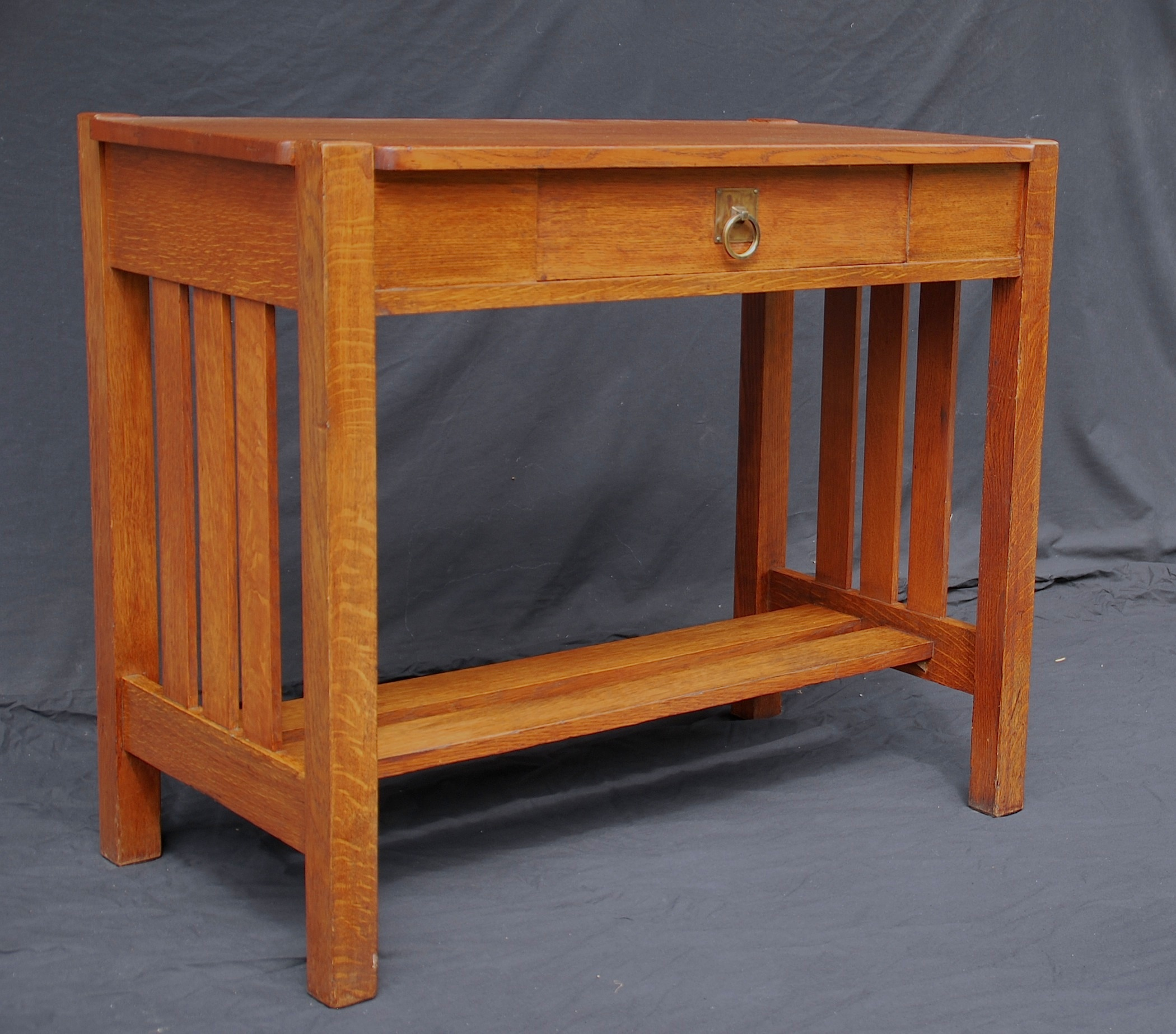 Elegant Stickley Brothers Small Library Table, Server Or Console Table