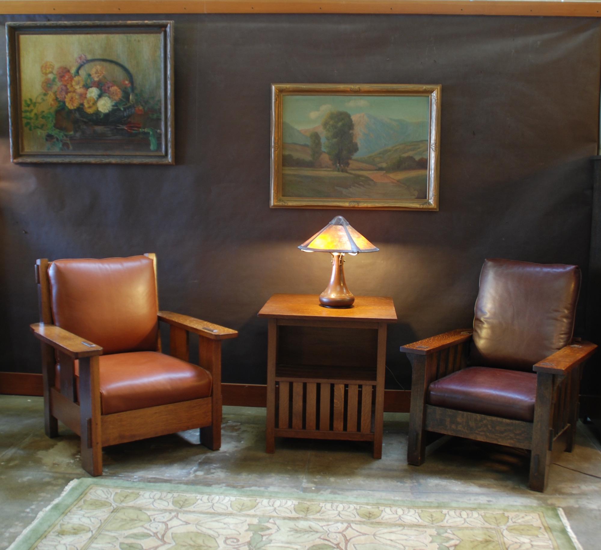 Morris chair cushions - Charles Stickley Fixed Back Morris Chair