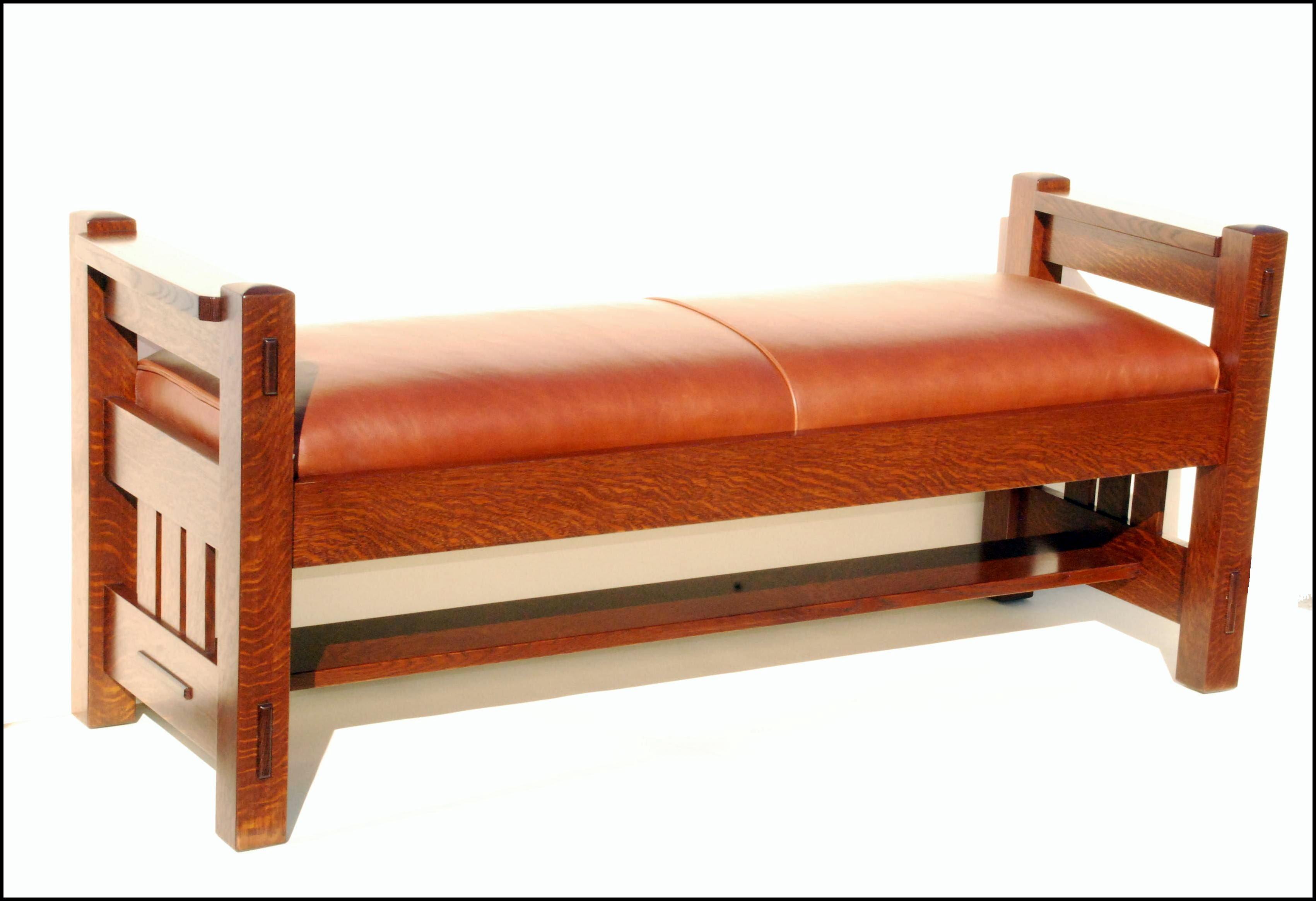 gustav stickley inspired window bench settle