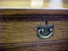 Detail original drawer pull.