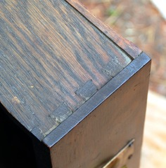 Dovetail drawer construction.