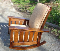 Same design Morris Rocker shown with fabric cushions. Please see model #311SF.
