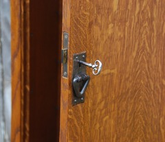 Detail functional full mortise lock.