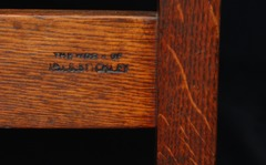 "Signed by the firms brand: ""The work of L.& J.G. Stickley"""