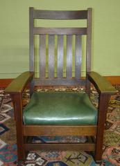 Front view, rocking chair.
