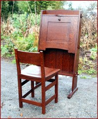 Shown closed with optional custom desk chair.