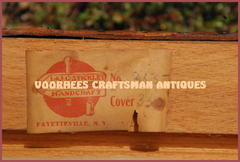 "Very rare ""Handcraft"" period paper label showing the model number and cover number handwritten in graphite."