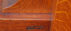 "Branded L.& J.G. Stickley signature, 1912 to 1918.  ""The Work of L.& J.G. Stickley""."