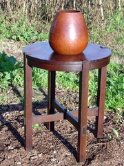 Displayed on Gustav Stickley 24 diameter lamp table.