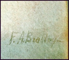 "Signature lower right hand corner: ""F.A. Bradley""."