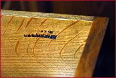 "Branded signature: ""The Work of L. & J. G. Stickley""....circa 1912 to 1918."