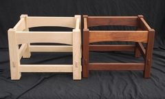 The arched version of this model shown pre-staining, next to the model #100.