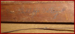 "Written in graphic on reverse of canvas stretcher: ""San Phillippi Valley""."