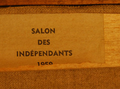 "Exhibition label:  ""Salon Des Independants""  1959"