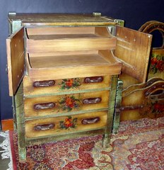 Highboy shown with doors open.