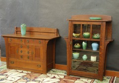 Shown alongside the matching sideboard from the same home.