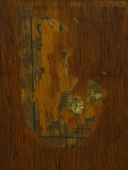Remnant Gustav Stickley signature paper label guarantee.