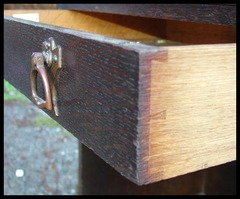 Detail Hand Dove-Tailed Drawer Construction.