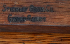 Stickley Brothers branded makers mark.