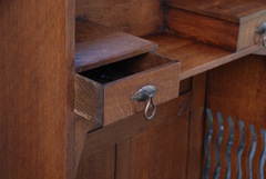 Detail hand dovetailed drawer construction.